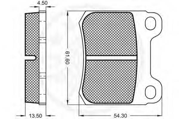 Тормозные колодки Тормозные колодки OPTIMAL арт. 9322