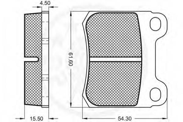 Тормозные колодки Тормозные колодки OPTIMAL арт. 9423