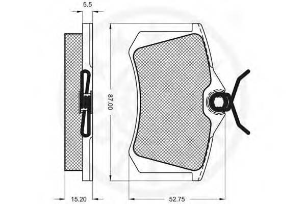 Тормозные колодки Тормозные колодки OPTIMAL арт. 9548