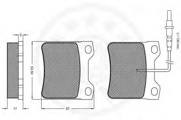 Тормозные колодки Тормозные колодки OPTIMAL арт. 9649
