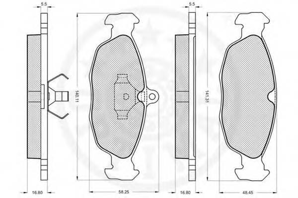 Тормозные колодки Тормозные колодки Lanos 1.5 OPTIMAL арт. 9771