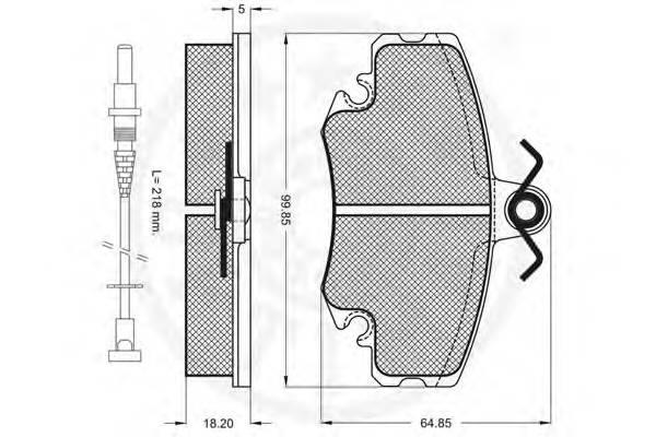 Тормозные колодки Тормозные колодки OPTIMAL арт. 9870