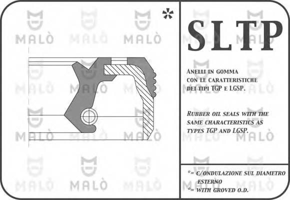 Сальник кулисы Fiat Doblo/Grande Punto 20*30*7 MALO 610PAC