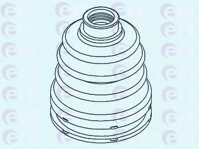 Пильник ШРУС гумовий  змазка ERT 500430