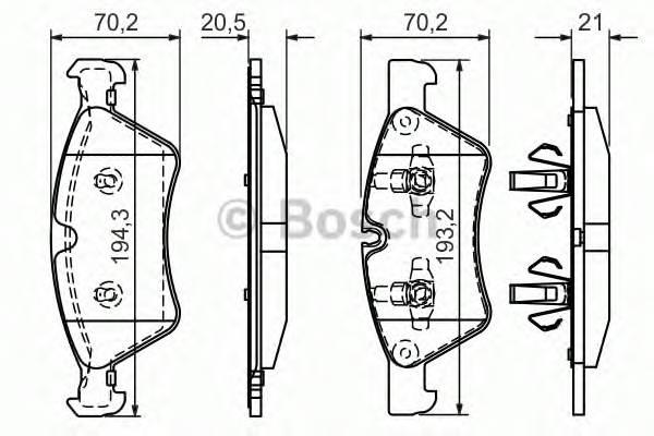 Тормозные колодки Тормозные колодки Bosch ABE арт. 0986494165