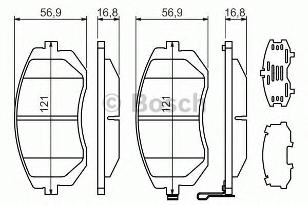 Тормозные колодки Тормозные колодки Bosch PAGID арт. 0986494315