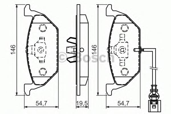 Тормозные колодки Тормозные колодки PAGID арт. 0986494524