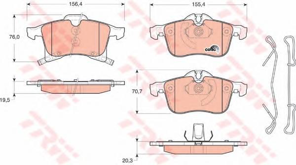 Тормозные колодки Тормозные колодки дисковые PAGID арт. GDB1668