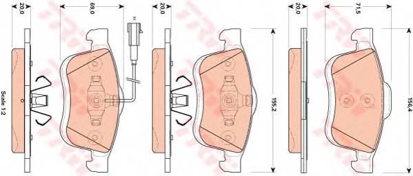 Тормозные колодки Тормозные колодки дисковые ABE арт. GDB1864