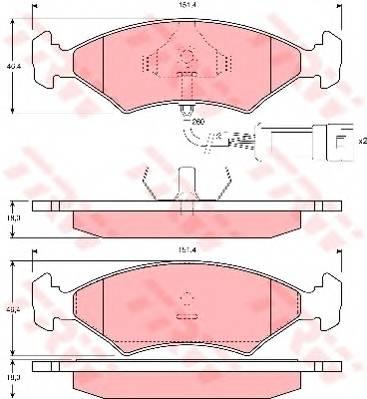 Тормозные колодки Тормозные колодки дисковые PAGID арт. GDB238