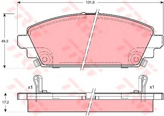 Тормозные колодки Тормозные колодки дисковые PAGID арт. GDB3189