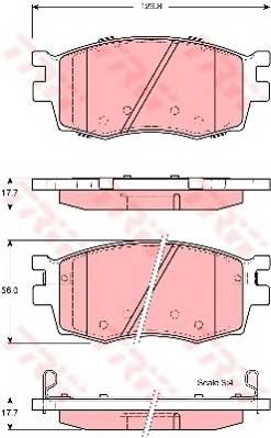 Тормозные колодки Тормозные колодки дисковые PAGID арт. GDB3420