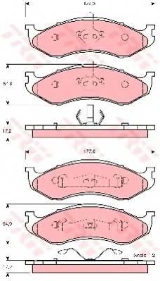 Тормозные колодки Тормозные колодки дисковые PAGID арт. GDB4104