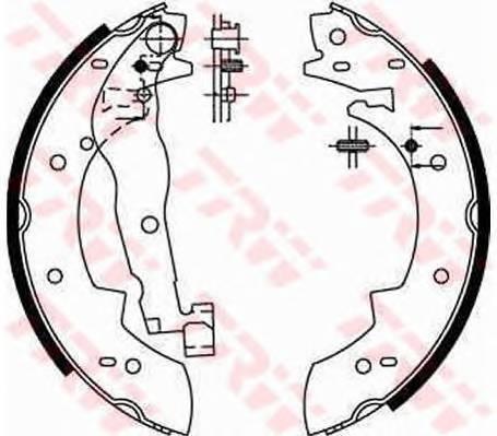 Тормозные колодки Тормозные колодки барабанные PAGID арт. GS6190