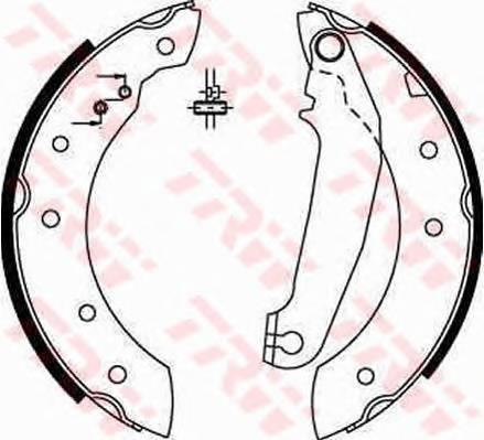 Тормозные колодки Тормозные колодки барабанные ABE арт. GS6233