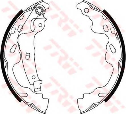 Тормозные колодки Тормозные колодки барабанные ABE арт. GS8480