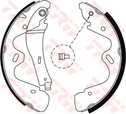 Тормозные колодки Тормозные колодки барабанные ABE арт. GS8483