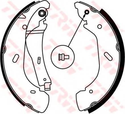 Тормозные колодки Тормозные колодки барабанные ABE арт. GS8690