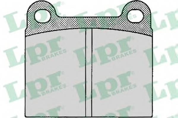 Тормозные колодки Тормозные колодки дисковые LPR арт. 05P024