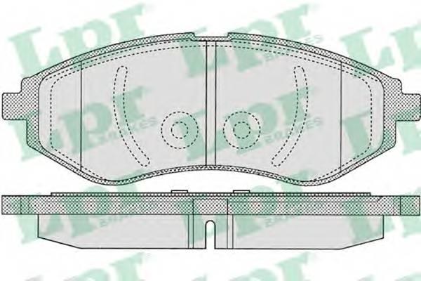 Тормозные колодки Тормозные колодки AVEO ABE арт. 05P1080