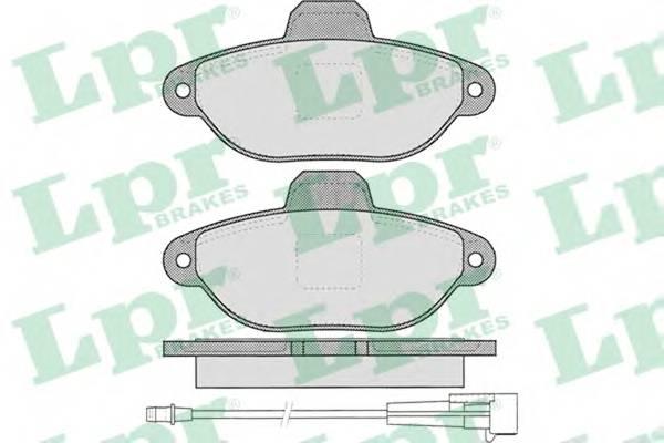 Тормозные колодки Тормозные колодки дисковые ABE арт. 05P1262