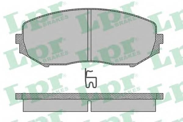 Тормозные колодки Тормозные колодки дисковые ABE арт. 05P1318