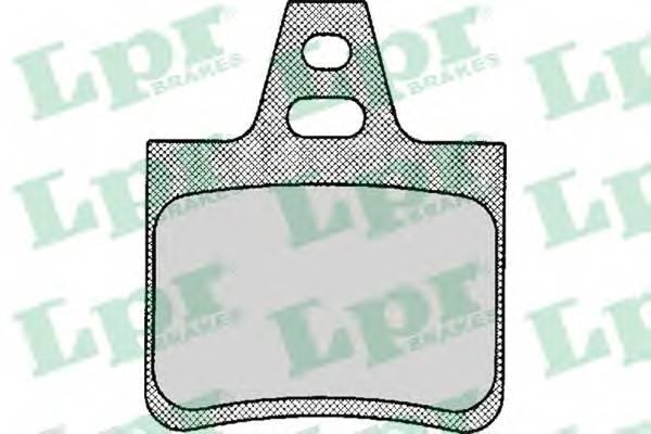 Тормозные колодки Тормозные колодки дисковые LPR арт. 05P133