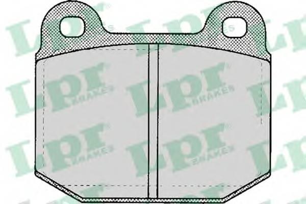 Тормозные колодки Тормозные колодки дисковые LPR арт. 05P137