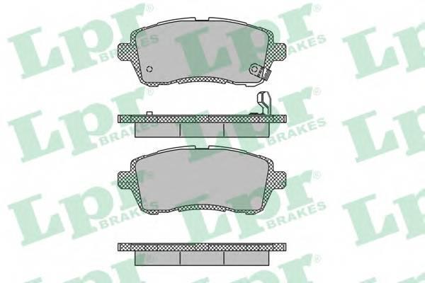 Тормозные колодки Тормозные колодки дисковые ABE арт. 05P1464