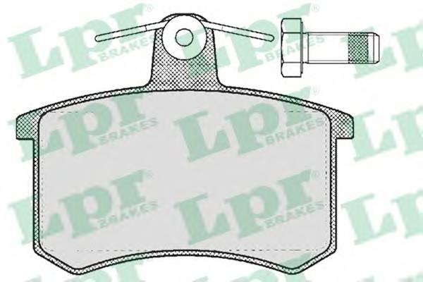 Тормозные колодки Тормозные колодки дисковые LPR арт. 05P215