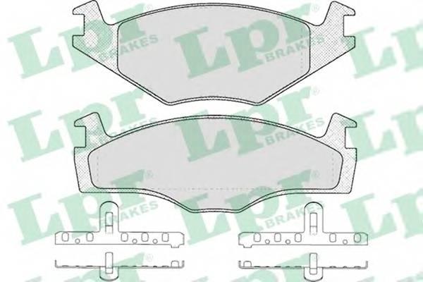 Гальмівні колодки, дискові PAGID арт. 05P225