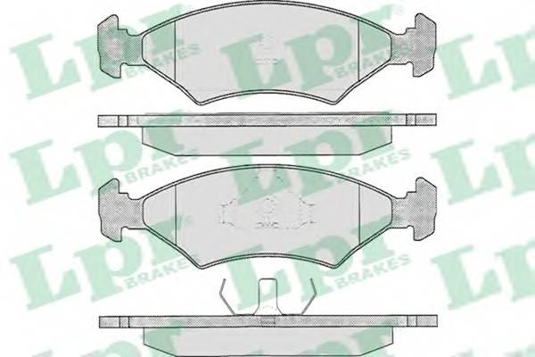 Гальмівні колодки, дискові PAGID арт. 05P233