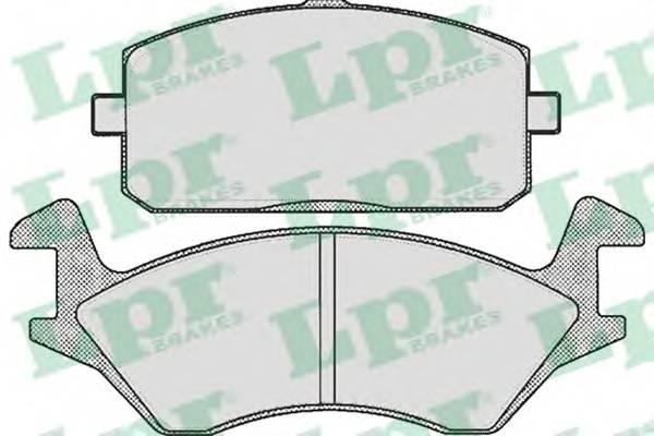 Тормозные колодки Тормозные колодки дисковые LPR арт. 05P251