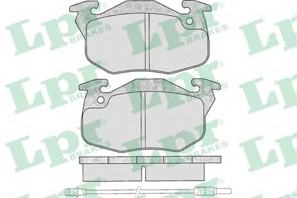 Тормозные колодки Тормозные колодки дисковые LPR арт. 05P271