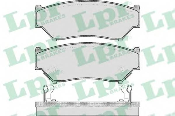 Тормозные колодки Тормозные колодки дисковые PAGID арт. 05P396