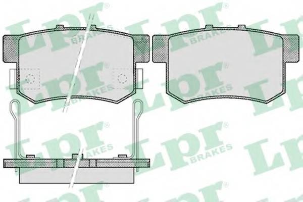 Тормозные колодки Тормозные колодки дисковые LPR арт. 05P508