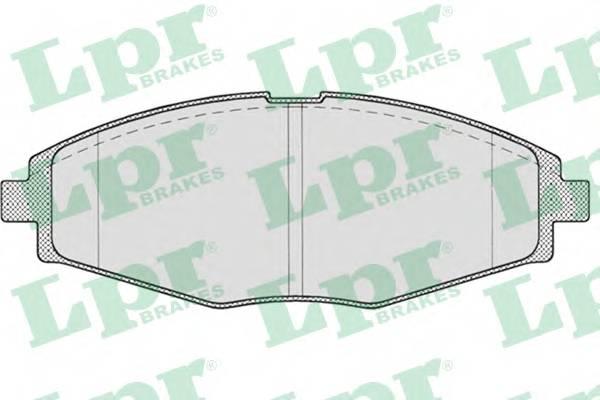 Тормозные колодки Тормозные колодки дисковые LPR арт. 05P693
