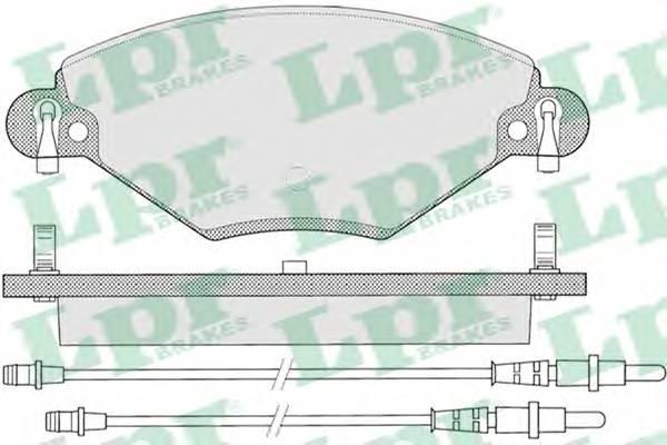 Тормозные колодки Тормозные колодки дисковые ABE арт. 05P793