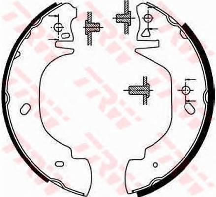 Тормозные колодки Тормозные колодки барабанные ABE арт. GS8629
