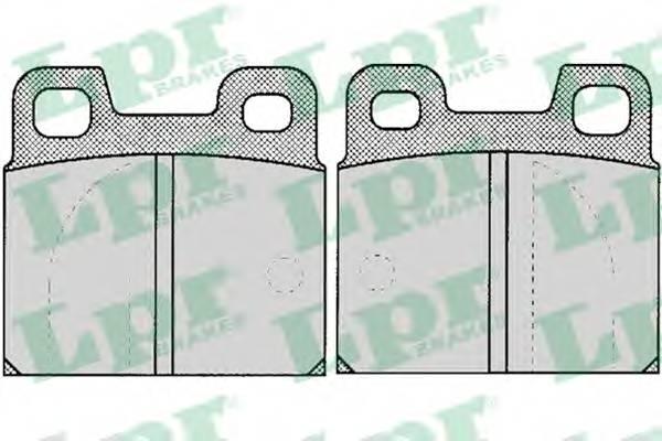 Тормозные колодки Тормозные колодки дисковые LPR арт. 05P031