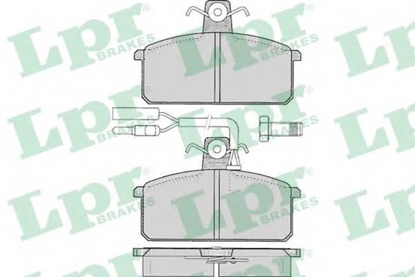 Тормозные колодки Тормозные колодки дисковые PAGID арт. 05P097