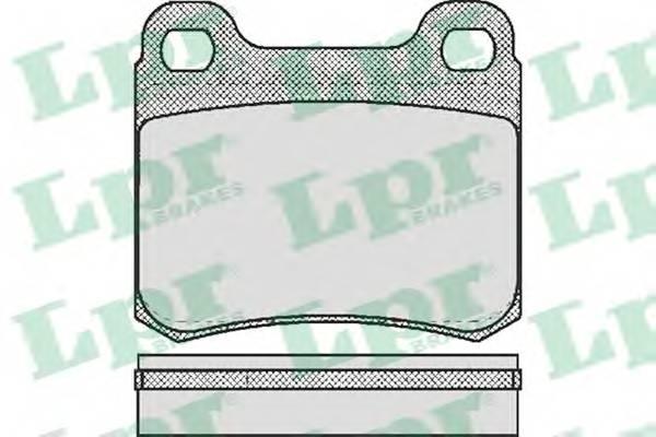 Тормозные колодки Тормозные колодки дисковые LPR арт. 05P158