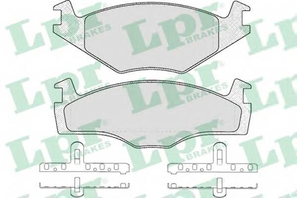 Тормозные колодки Тормозные колодки дисковые LPR арт. 05P224