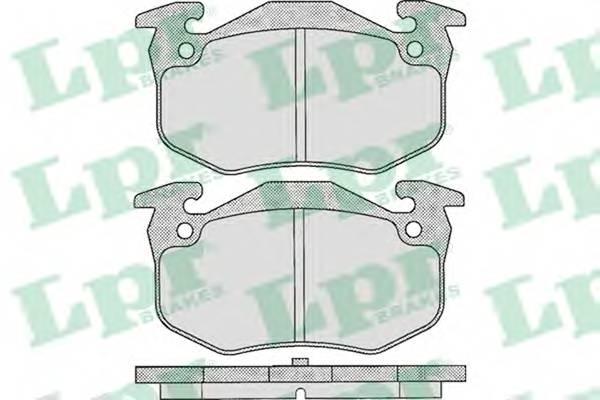 Тормозные колодки Тормозные колодки дисковые LPR арт. 05P307