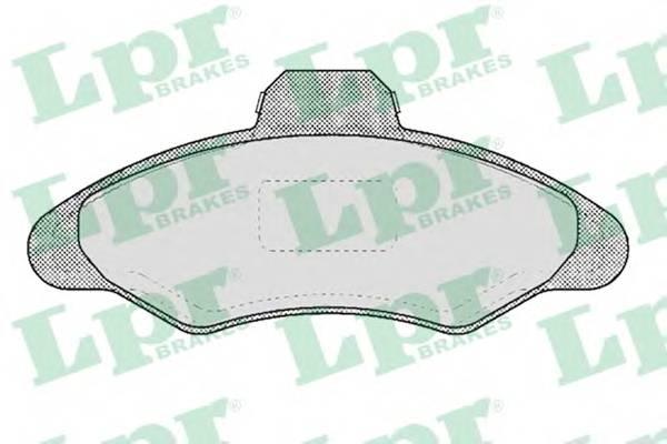 Тормозные колодки Тормозные колодки дисковые ABE арт. 05P383