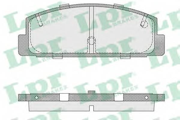 Тормозные колодки Тормозные колодки PAGID арт. 05P876