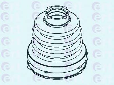 Пильник ШРУС гумовий  змазка ERT 500436