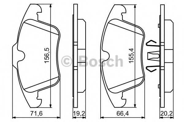 Тормозные колодки Тормозные колодки Bosch ABE арт. 0986494246