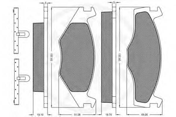 Тормозные колодки Тормозные колодки OPTIMAL арт. 9362