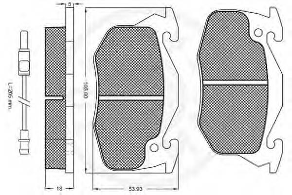 Тормозные колодки Тормозные колодки OPTIMAL арт. 9415